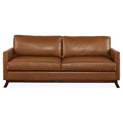 Edwards Sofa, Caramel Leather