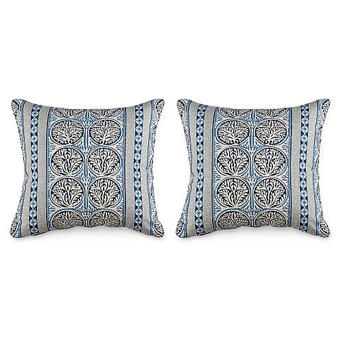 S/2 Fair Isle 20x20 Pillows, Navy