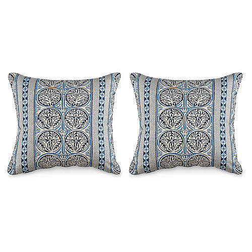 S/2 Fair Isle 20x20 Pillows, Navy