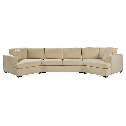 Joplin Sectional, Natural Crypton