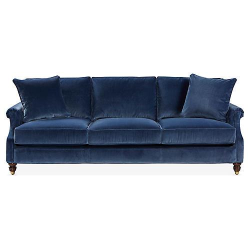 Webster Sofa, Marine Blue