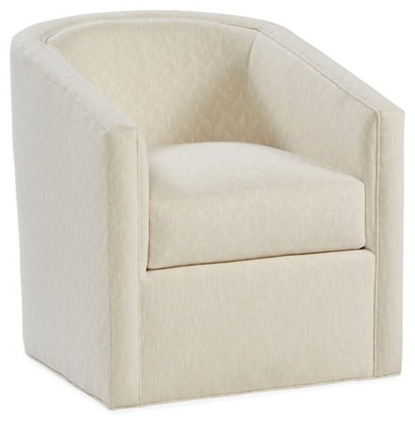 Monica Swivel Club Chair Parchment Crypton Recliners Gliders Chairs Living Room Furniture One Kings Lane
