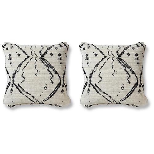S/2 Hania 20x20 Pillows, Midnight