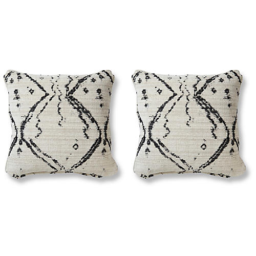 S/2 Hania 20x20 Pillows, Midnight