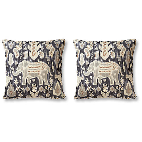 S/2 Indonesia 20x20 Pillows, Slate
