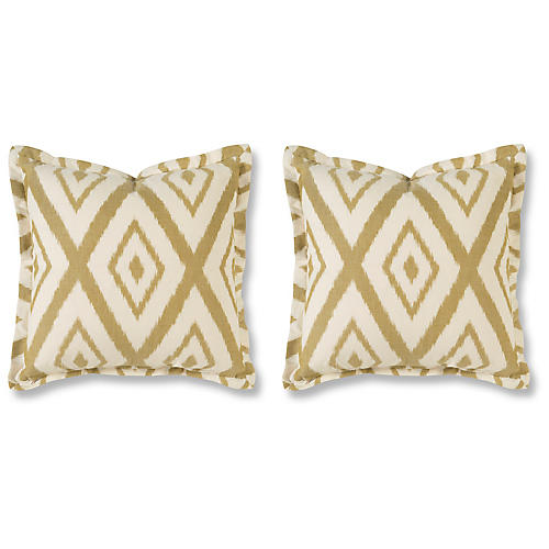 S/2 Lalu 20x20 Pillows, Chartreuse
