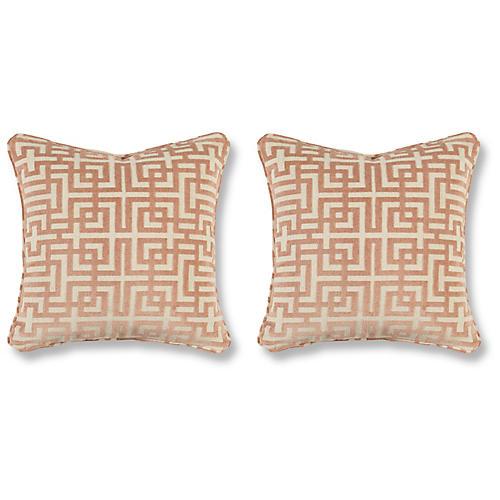 S/2 Asian Trail Pillows, Blush