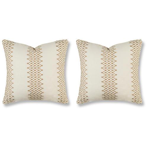 S/2 Trail 20x20 Pillows, Grain Linen