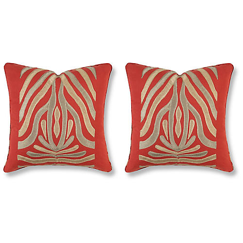 S/2 Kenya Pillows, Clay