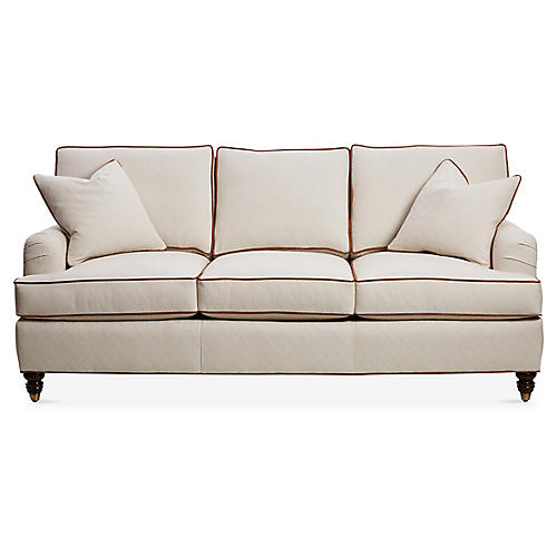 "Kate 82"" Sleeper Sofa, Beige/Brown"