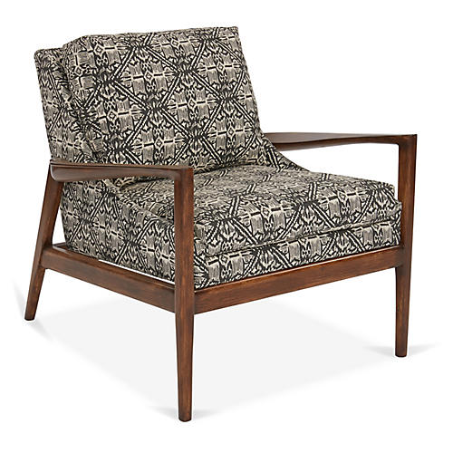 Ebonwood Accent Chair, Granite