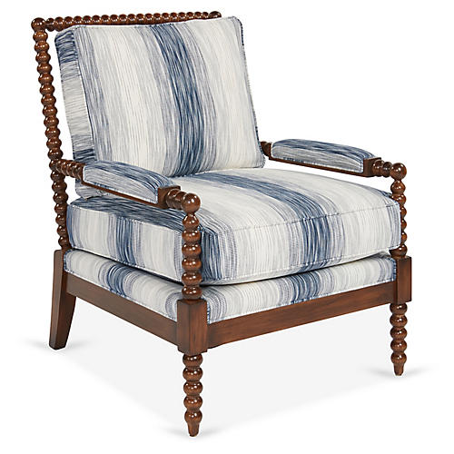 Bankwood Accent Chair, Indigo