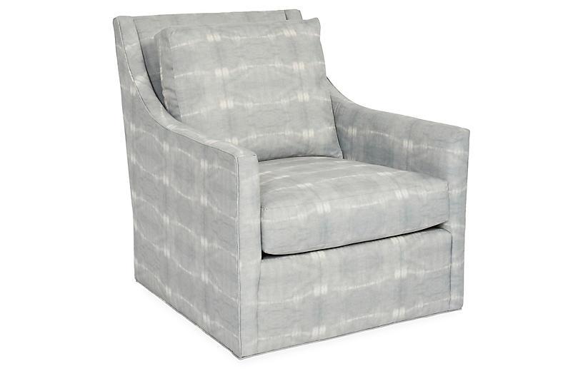 Fairfax Swivel Club Chair, Mist