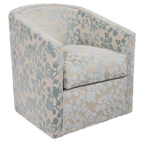 Monica Swivel Club Chair, Mist