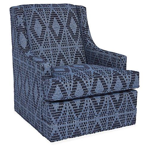 Berkley Swivel Club Chair, Ink