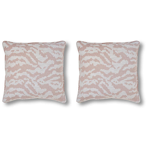 S/2 Zanzibar 20x20 Pillows, Blush