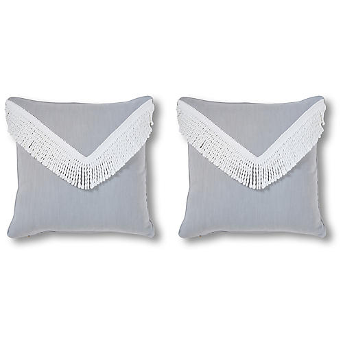 S/2 Angelo 20x20 Pillows, Steel