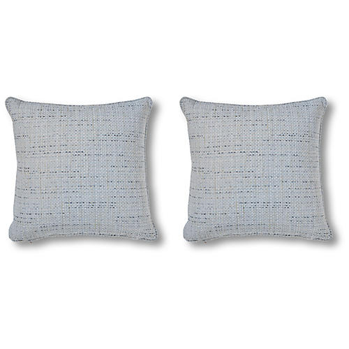 S/2 Channing 20x20 Pillows, Frost