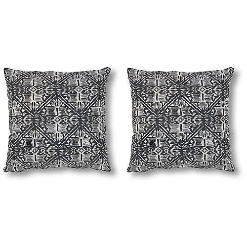 S/2 Harlow 20x20 Pillows, Granite