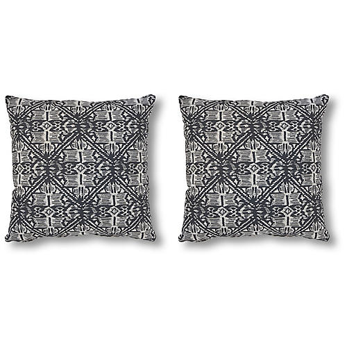 S/2 Harlow 20x20 Pillows, Granite