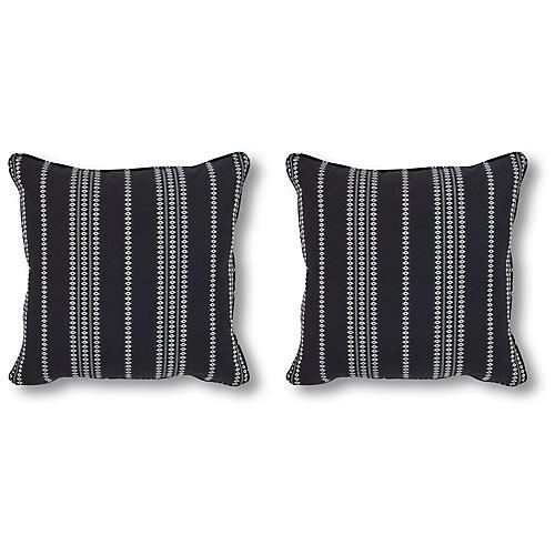 S/2 Finn 20x20 Pillows, Onyx