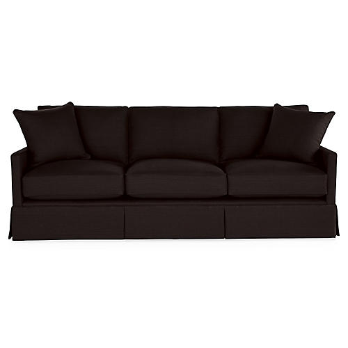 Auburn Sofa, Black Linen