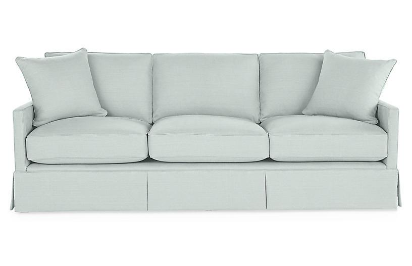 Auburn Sofa, Seafoam Linen