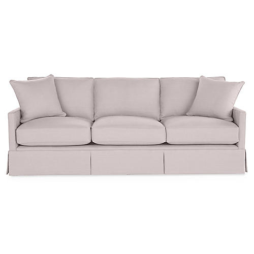 Auburn Sofa, Quartz Linen
