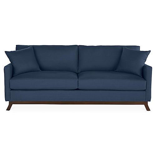 Edwards Sofa, Indigo Linen