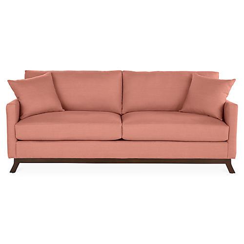 Edwards Sofa, Rose Linen