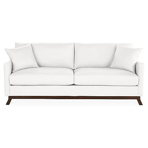 Edwards Sofa, White Linen