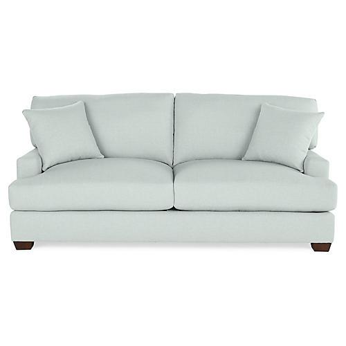 Logan Sofa, Seafoam Linen