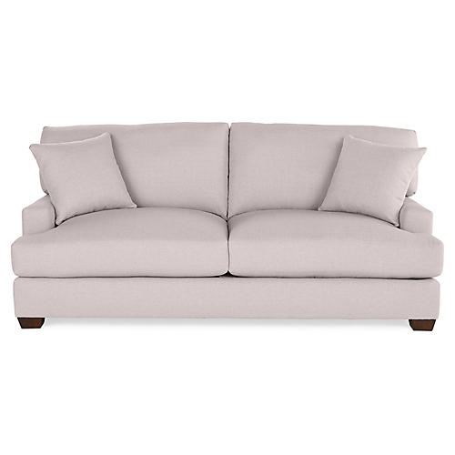 Logan Sofa, Quartz Linen