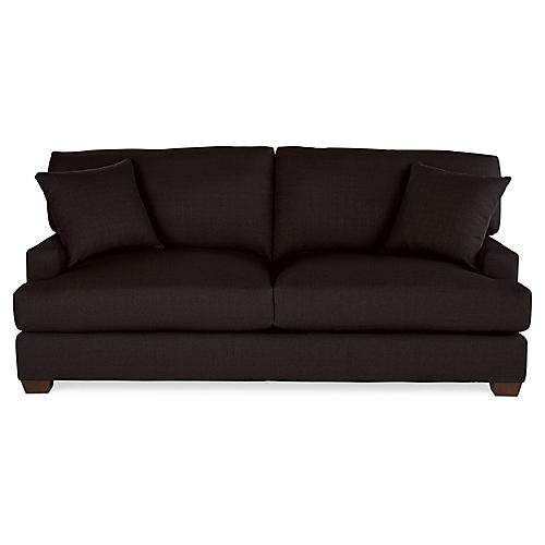 Logan Sleeper Sofa, Black Linen