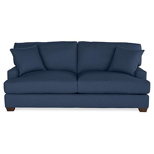 Logan Sleeper Sofa, Indigo Linen