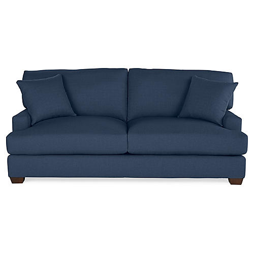 Logan Sleeper Sofa, Indigo Linen