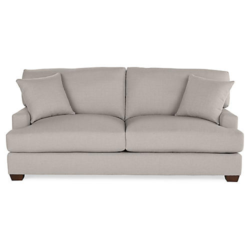 Logan Sleeper Sofa, Gray Linen