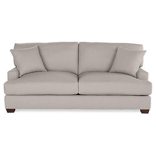 Logan Sleeper Sofa, Gray Linen