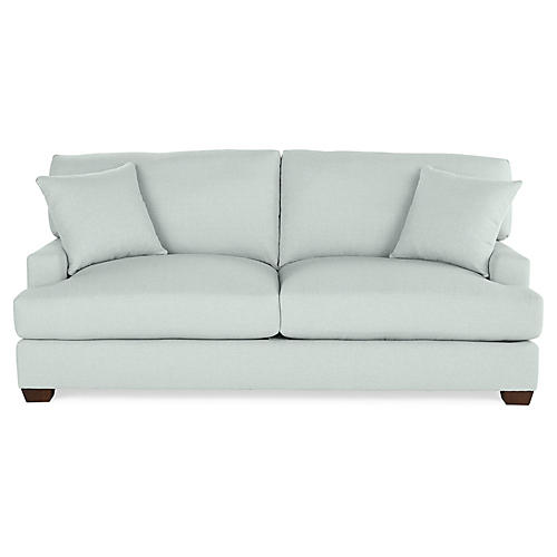 Logan Sleeper Sofa, Seafoam Linen