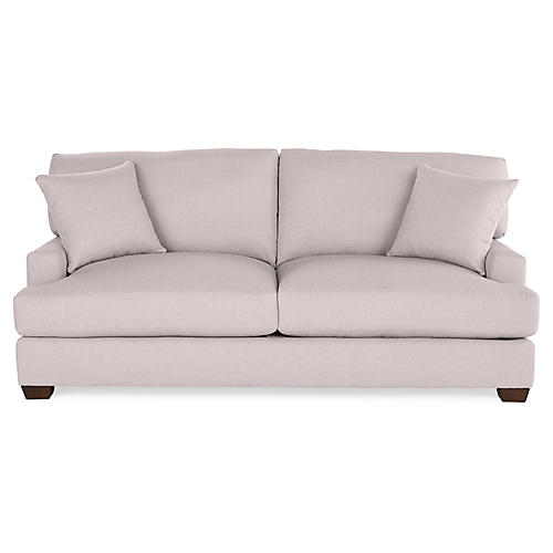 Logan Sleeper Sofa, Quartz Linen