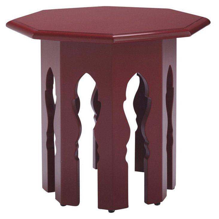 Moroccan Stand, Red Lacquer