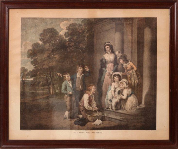 English Mezzotint, C. 1800