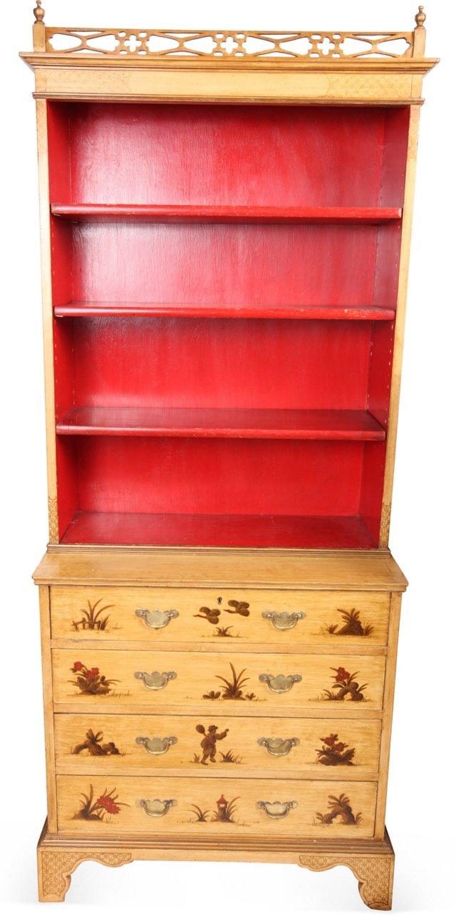 Vintage Chinoiserie Bookcase