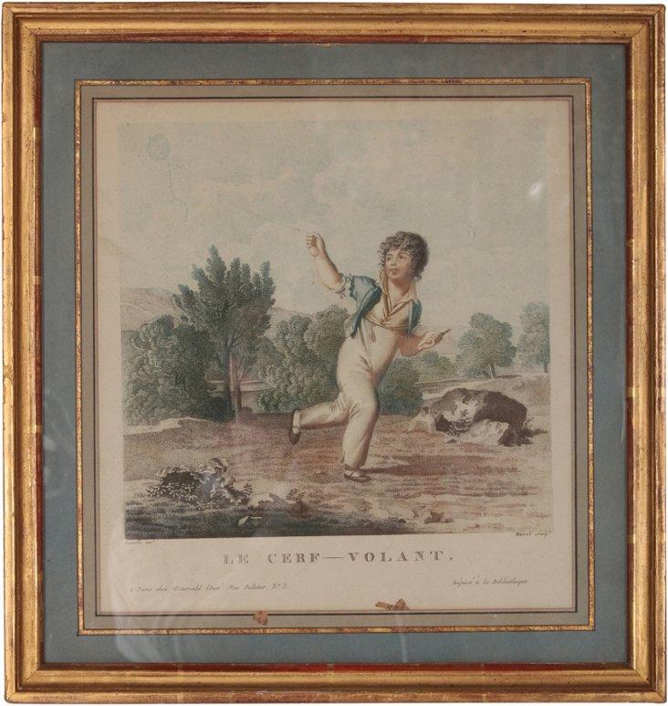 19th-C. French Mezzotint
