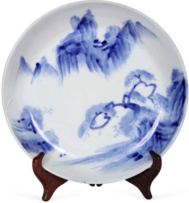 Blue & White Chinese Dish