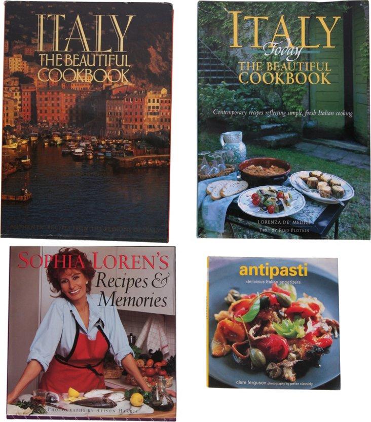 Illustrated Cookbooks, Set of 4