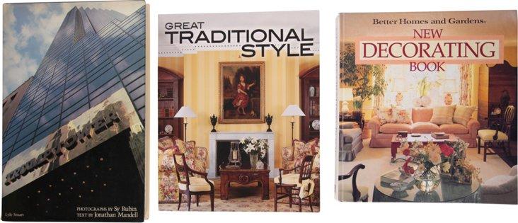 Design & Style Books, Set of 3
