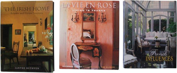 European Interior Books, Set of 3