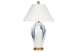 Tango Lamp, Navy Brushstroke*