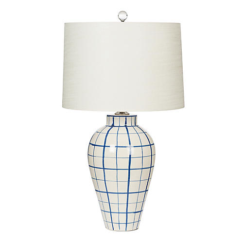 highlands table lamp blue